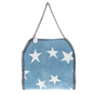 Stella McCartney Small Falabella Denim Star Tote with Chain Trim