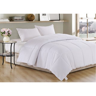 White Polyester All-season Down Alternative Comforter