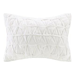 Echo Design Crete White Cotton Oblong Throw Pillow