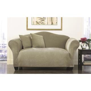 Sure Fit Stretch Pique Knit Bench Seat Slipcover for Loveseat