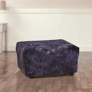 Sure Fit Stretch Plush Tye-Dye Ottoman Cover