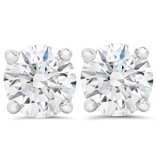 14k White Gold 1 1/2ct TDW Eco-Friendly Lab Grown Diamond Studs (F-G, SI1-SI2)