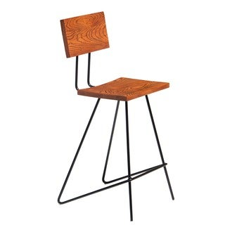 Aurelle Home Solid Rustic Counter Stool (Set of 2)