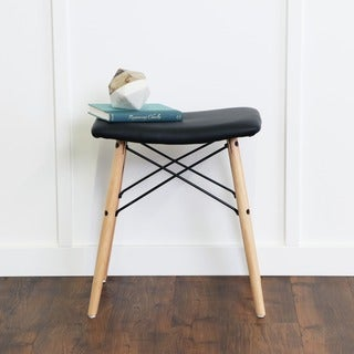 18-inch Retro Modern Faux Leather Stool