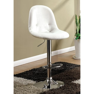 Furniture of America Sani Contemporary Faux Crocodile Adjustable Bar Stool