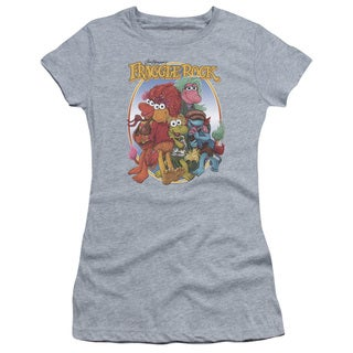 Fraggle Rock/Group Hug Junior Sheer in Heather in Athletic Heather