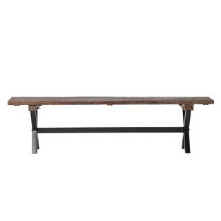 Aurelle Home Rustic Reclaimed Bench