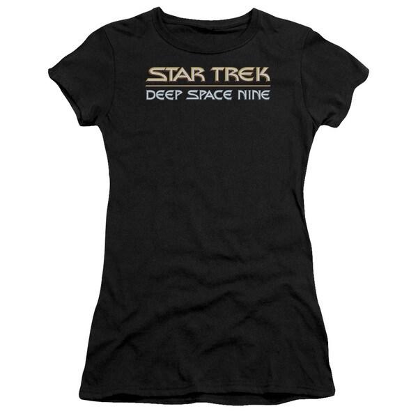 Star Trek/Deep Space Nine Logo Junior Sheer in Black