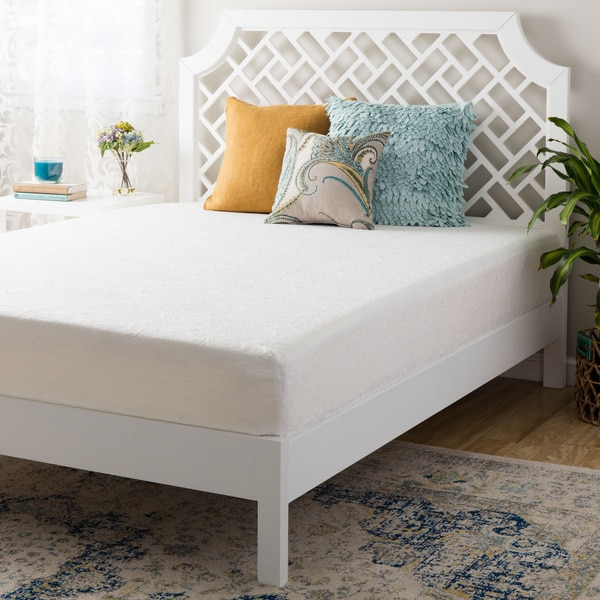 Double- Layered 14-inch Short Queen-size Firm Memory Foam Mattress