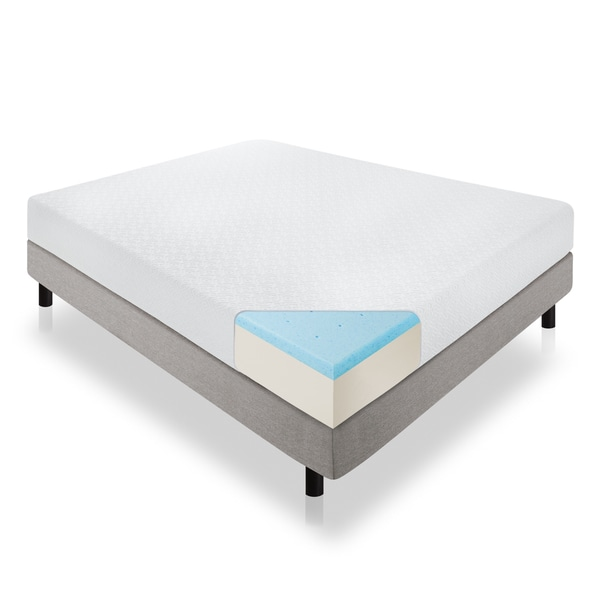 LUCID 10-inch California King-size Plush Gel Memory Foam Mattress