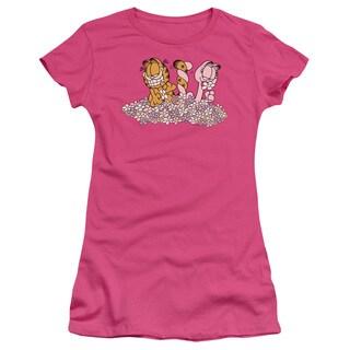 Garfield/Chicks Dig Flowers Junior Sheer in Hot Pink