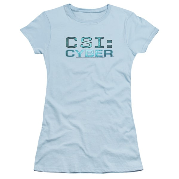 CSI: Cyber/Cyber Logo Junior Sheer in Light Blue
