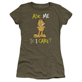 Garfield/Ask Me If I Care Junior Sheer in Military Green