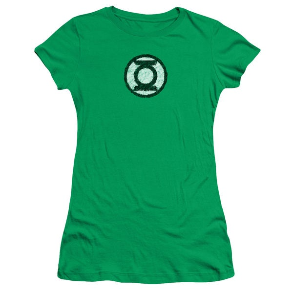 Green Lantern/Scribble Lantern Logo Junior Sheer in Kelly Green