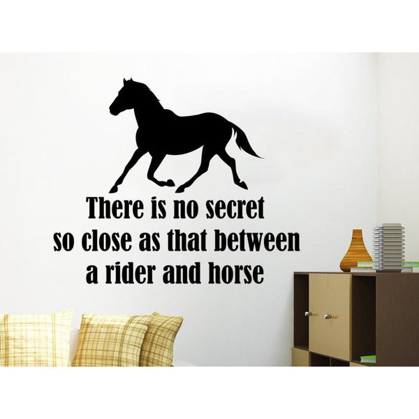 Quotes There is no secret so close as that between Wall Art Sticker Decal