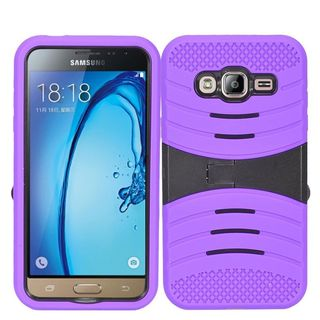 Insten Wave Symbiosis Soft Silicone/ PC Dual Layer Hybrid Case Cover For Samsung Galaxy Amp Prime/ J3 (2016)