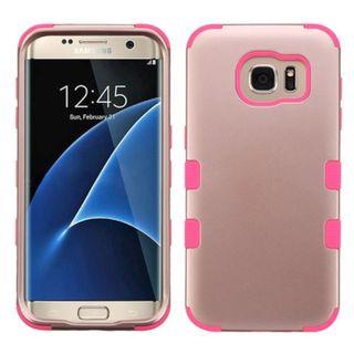 Insten Tuff Hard PC/ Silicone Dual Layer Hybrid Rubberized Matte Case Cover For Samsung Galaxy S7 Edge