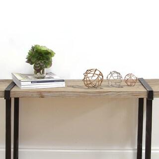 Stratton Home Decor Multicolored 3-piece Metal Sphere Table Top Decor