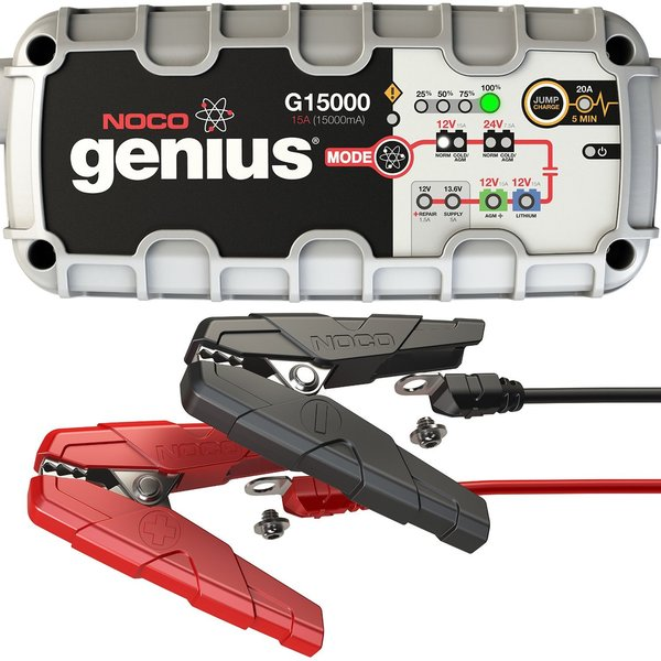 NOCO G15000 Genius Pro Series 12-volt/24-volt 15A UltraSafe Smart Battery Charger