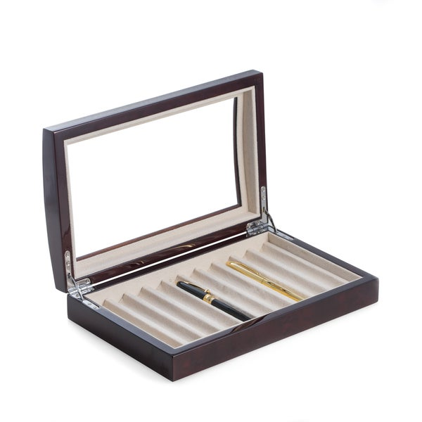 Burl Wood Pen Box