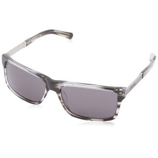 Kenneth Cole New York Men's Black Plastic Rectangular Sunglasses