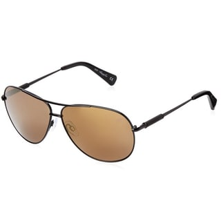 Kenneth Cole New York KC7184 Black and Brown Metal and Plastic Polarized Aviator Sunglasses