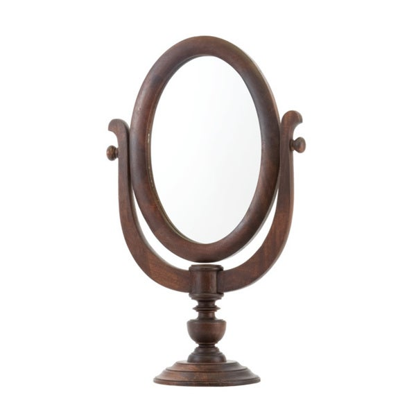 Vintage Wood Shaving Mirror