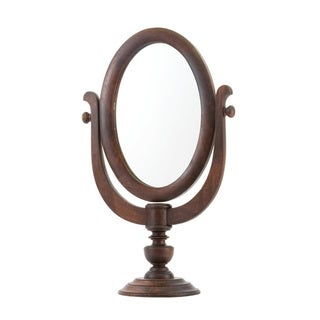 Vintage Wood Shaving Mirror