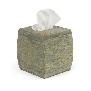 Grey Natural Slate Tissue Box