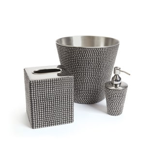 Hip Vintage Silver Metal Dots Bathroom Set
