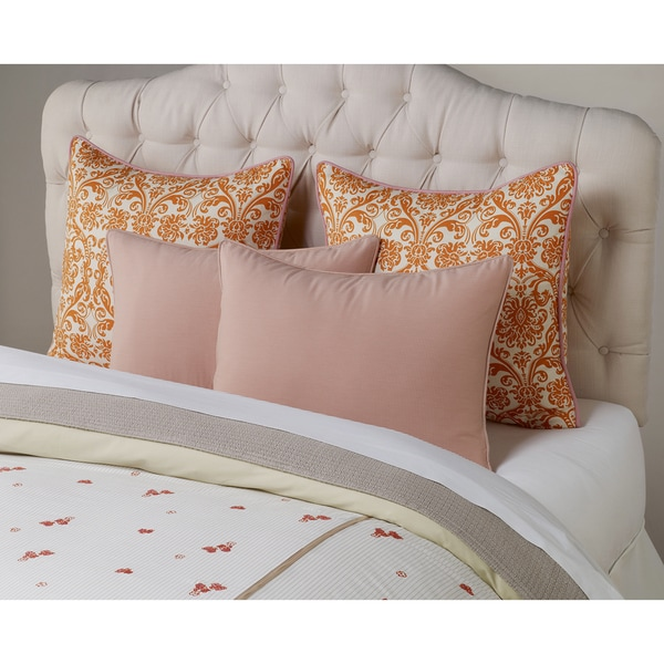 Embroidered Cream Stripe Duvet Covet
