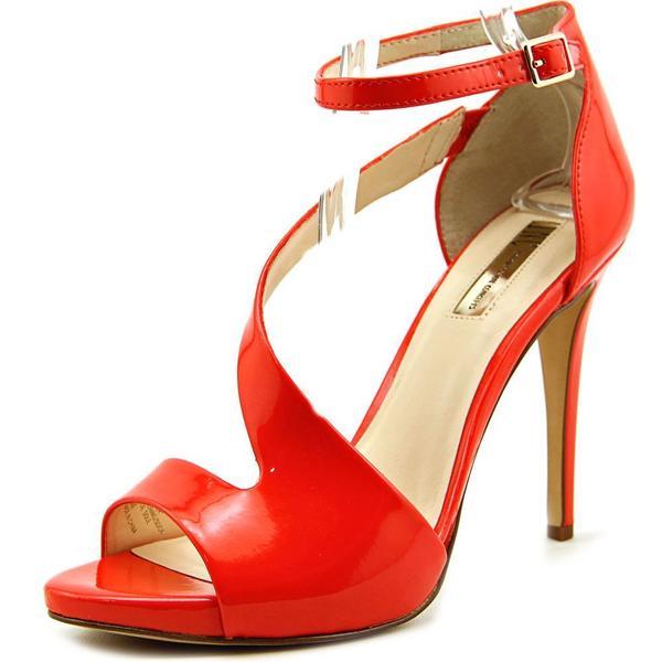 INC International Concepts Women's Suzi Orange Patent Leather High Heel Shoes