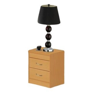 Hodedah Two-drawer Nightstand