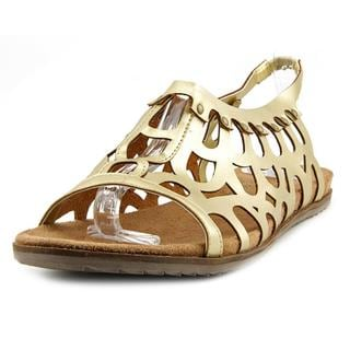 Coconuts By Matisse Women's Swan Gold Faux Leather Sandals
