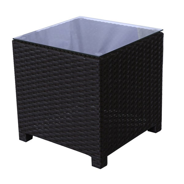 Maui Viro Grey Wicker End Table