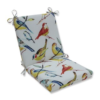 Pillow Perfect Outdoor / Indoor Bird Watchers Spring Squared Corners Chair Cushion