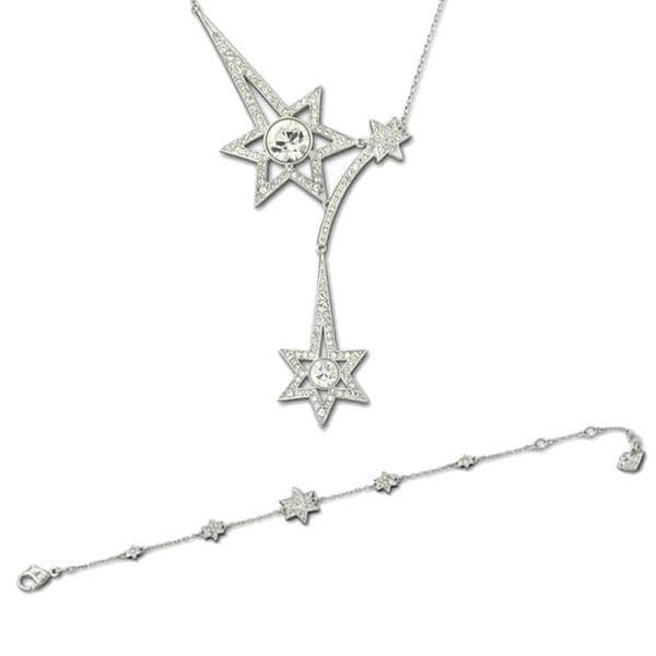 Crystal Pleasure Bracelet and Necklace Set