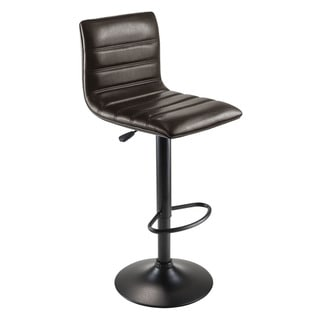 Winsome Metal Holly Soft PU Leather Seat L-shaped Air Lift Adjustable Swivel Stool