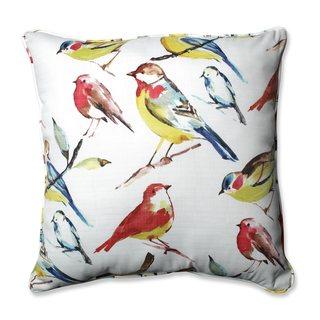 Pillow Perfect Outdoor/ Indoor Bird Watchers Summer 25-inch Floor Pillow