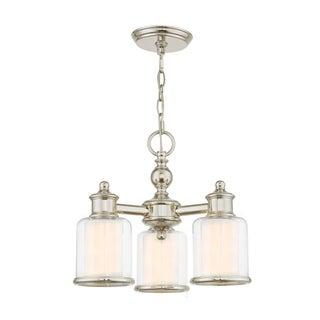Livex Lighting Middlebush Polished Nickel 3-light Semi-flush Mount Dinette Chandelier