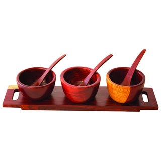 Cocobolo Decorative Triple Cup Set