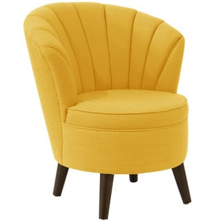 angelo:HOME Yellow Linen, Polyester Channel-seam Tub Chair
