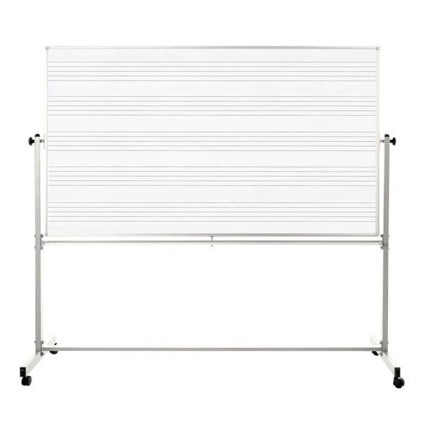 Offex 72-inch x 48-inch Mobile Magnetic Double-sided Music Whiteboard With Marker