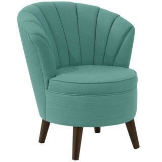 angelo:HOME Blue Linen/ Polyester Wood Channel Seam Tub Chair