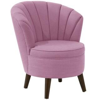 angelo:HOME Lavender Linen Channel-seam Tub Chair