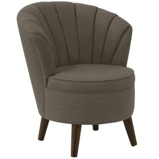angelo:HOME Espresso Slate Linen/Polyester/Polyurethane/Pine Channel-seam Tub Chair