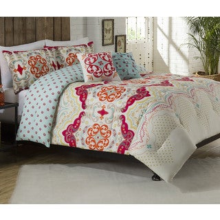 Milo Flower Reversible 5-piece Comforter Set