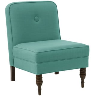 angelo:HOME Laguna/Espresso Linen/Pine Accent Chair With Button