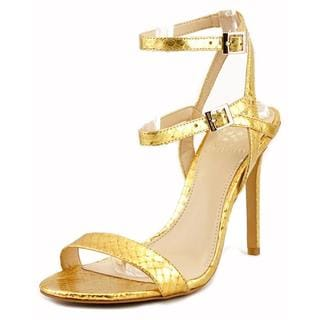 Vince Camuto Women's Tami Gold Leather High Heeled Sandals
