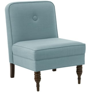 angelo:HOME Seaglass Linen Upholstered Accent Chair With Button